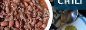 Homemade, heartwarming real food chili recipe. Perfect for cold weather!