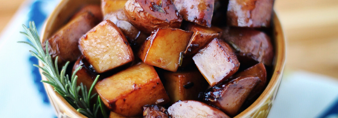 Pan Fried Balsamic New Potatoes