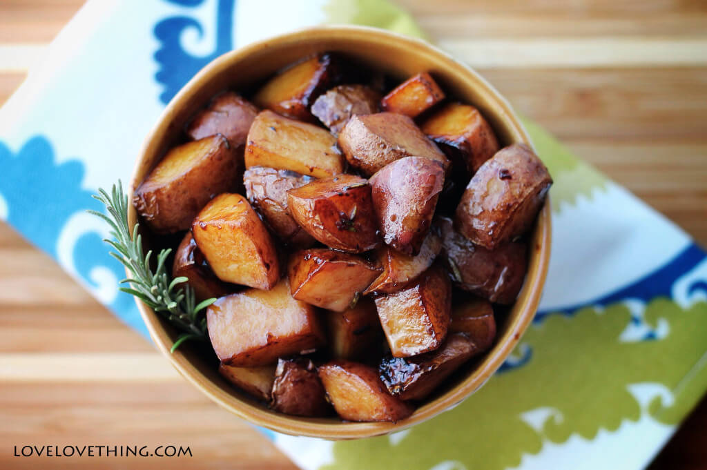 Yumm!! Pan-friend balsamic new potatoes - delicious!!