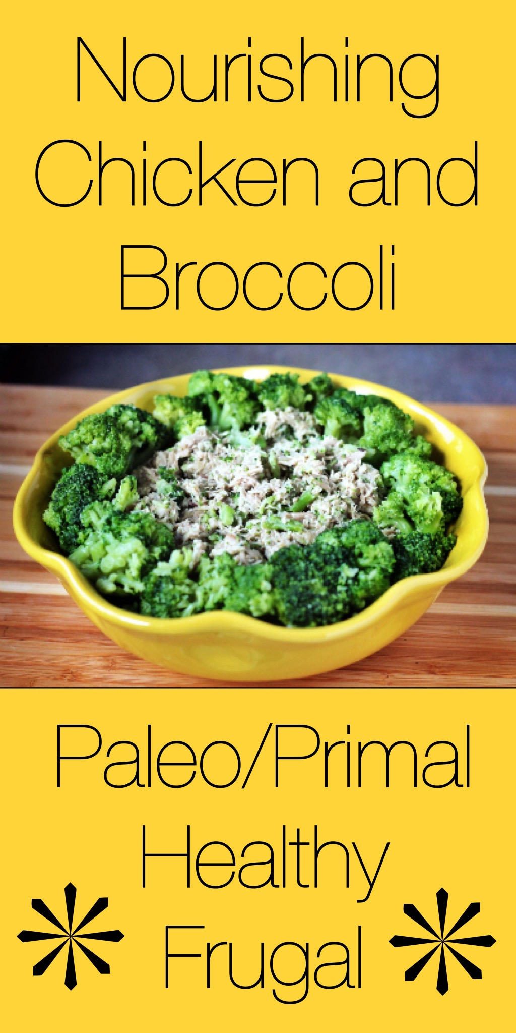 Creamy, nourishing chicken and broccoli - great way to use ALL of a chicken!