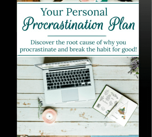 Beat procrastination with your personal procrastination plan!